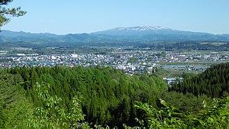 Kitaakita - Panorama view of downtown Kitaakita
