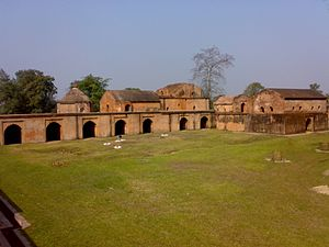 "Talatal Ghar - Talatal Ghar or ""The Rangpur Palace"", Sivasagar (View of one of the wings of the Talatal Ghar)"