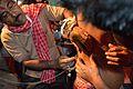 Tapas Dutta Thread Pierces Sushil Panja - Gajan Ritual - Bainan - Howrah 2015-04-14 8100.JPG
