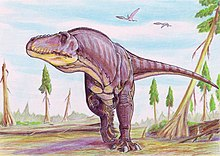 Tarbosaurus illustration showing the environment