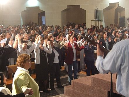 Praise and Worship during a CCR Healing Service. Tarxien erwieh.jpg