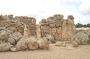 Megalithic Temples of Malta - The megalithic remains at Ġgantija