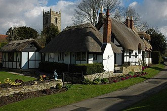 Cottage - A typical English thatched cottage – Ten Penny Cottage – in Welford-on-Avon, Warwickshire