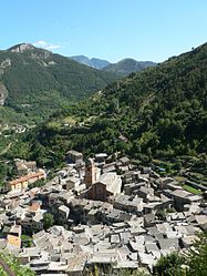 An overhead view of Tende