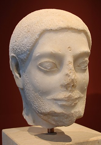 Archaic Greece - The Sabouroff head, an important example of Late Archaic Greek marble sculpture, and a precussor of true portraiture, ca. 550-525 BCE.
