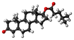Testosterone isocaproate molecule ball.png