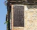 Teulat - Chapelle saint Martin - le clocher-mur -Liste des donnateurs.jpg