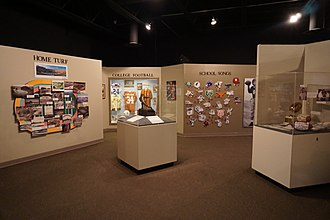 Texas Sports Hall of Fame - Football inductee exhibits