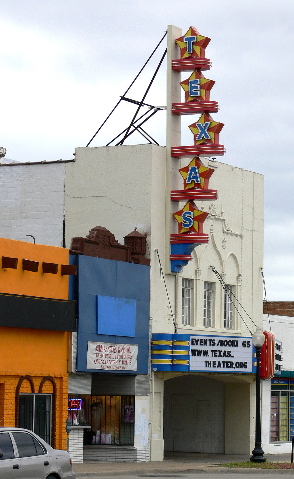 front facade of the texas theatre, an interesting stop during a 3 day weekend dallas itinerary