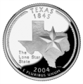 Texas quarter, reverse side, 2004.png