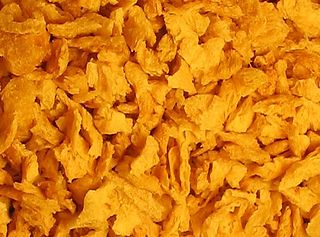 Textured vegetable protein Defatted soy flour product, also called soy chunks