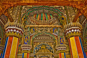 Thanjavur Maratha kingdom - Interior of Durbar Hall, Thanjavur Maratha palace