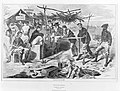 Thanksgiving in Camp (Harper's Weekly, Vol. VII) MET MM10608.jpg