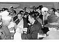 The 14th Dalai Lama being received at Palam by Indian dignitaries in Nov 1956.jpg