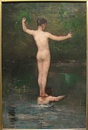 The Bathers, 1877, by William Morris Hunt (1824-1879) - Worcester Art Museum - IMG 7590.JPG