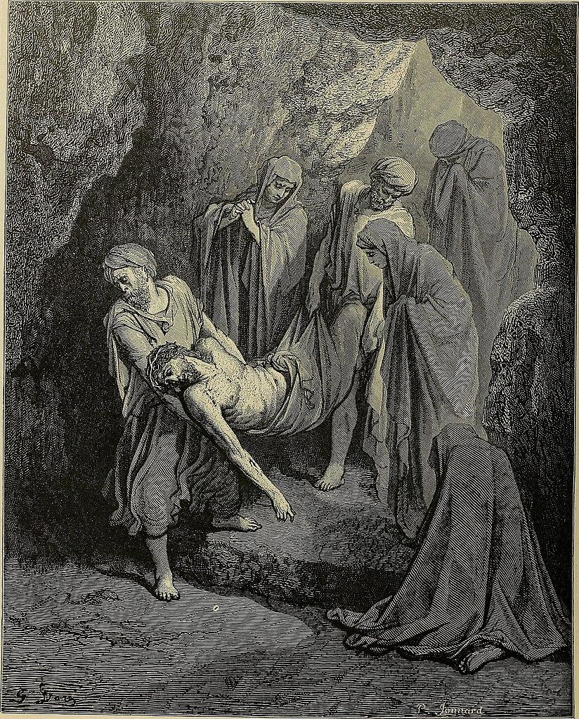 무덤에 묻히신 예수님 (귀스타브 도레, Gustave Dore, 1866년)