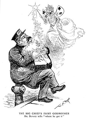 William Stephen Devery - William S. Devery satirized in Harper's Weekly on September 6, 1902 by William Allen Rogers.