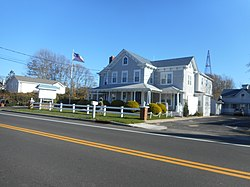 The Blue Inn, one of many Bed & Breakfasts along NY 25 in East Marion.