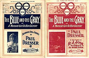 The Blue and the Gray (song) - Image: The Blue and the Gray 1900 sheet music covers