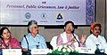 The Chairman of the Parliamentary Standing Committee on Personnel, Public Grievances, Law & Justice, Shri Shantaram Naik, MP, addressing a press conference, in Kolkata on July 03, 2013.jpg