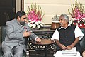 The Chief Minister of Kerala, Shri Oommen Chandy meeting the Union Minister for Commerce & Industry and Textiles, Shri Anand Sharma, in New Delhi on November 21, 2011.jpg