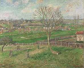 The Field and the Great Walnut Tree in Winter, Eragny