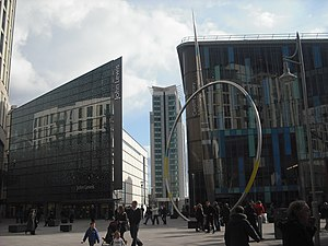 Cardiff city centre - The Hayes South in Cardiff