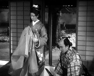 The Life of Oharu - Toshiro Mifune as page Katsunosuke, who courted Oharu