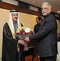 The Minister of Economy, UAE, Mr. Sultan Al Mansoori meeting the Union Minister for Civil Aviation, Shri Ashok Gajapathi Raju Pusapati, in New Delhi on February 10, 2016.jpg