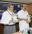 The Minister of State (Independent Charge) for Consumer Affairs, Food and Public Distribution, Professor K.V. Thomas releasing the Operational Report of FCI for the year 2010-11, in New Delhi on October 21, 2011.jpg