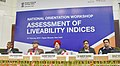 The Minister of State for Housing and Urban Affairs (IC), Shri Hardeep Singh Puri at the inauguration of the National Orientation Workshop on Assessment of Liveability Indices for 116 Cities in India, in New Delhi.jpg