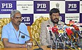 The Minister of State for Social Justice & Empowerment, Shri Ramdas Athawale addressing a press conference, in Chennai on January 06, 2017. The ADG, PIB, Chennai, Shri K. Muthu Kumar is also seen.jpg