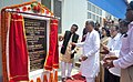 The Minister of State for Textiles (Independent Charge), Shri Santosh Kumar Gangwar unveiling the plaque to inaugurate the Apparel and Garment making centre, at Bhudjangnagar, in Agartala.jpg