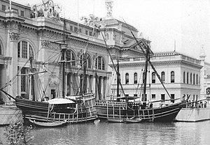 Pinta (ship) - La Niña and La Pinta replicas at the 1893 Columbian Exposition