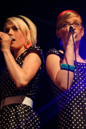 The Pipettes - Gwenno Saunders, left, and Rebecca Stephens in 2006