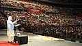 The Prime Minister, Shri Narendra Modi addressing the gathering in the Community Reception, at Allphones Arena, in Sydney, Australia on November 17, 2014 (5).jpg