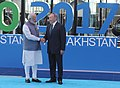 The Prime Minister, Shri Narendra Modi being welcomed by the President of Kazakhstan, Mr. Nursultan Nazarbayev, at the inauguration of the Astana EXPO-2017, in Astana, Kazakhstan on June 09, 2017 (1).jpg
