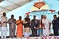 The Prime Minister, Shri Narendra Modi lighting the lamp at the closing ceremony of the Sesquicentennial Celebrations of Allahabad High Court, in Uttar Pradesh.jpg