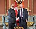 The Prime Minister, Shri Narendra Modi meeting the Governor General of Canada, the Right Honourable David Johnston, at Ottawa, Canada on April 15, 2015 (1).jpg