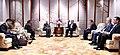 The Prime Minister, Shri Narendra Modi meeting the President of the Republic of Tajikistan, Mr. Emomali Rahmon, on the sidelines of the Shanghai Cooperation Organisation (SCO) Summit, in Qingdao, China on June 09, 2018 (2).JPG