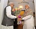 The Prime Minister, Shri Narendra Modi meets and wishes Shri L.K. Advani on his birthday, in New Delhi on November 08, 2015.jpg
