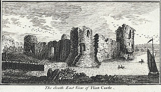 The South East View of Flint Castle