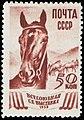 The Soviet Union 1939 CPA 682 stamp (Horse Breeding).jpg