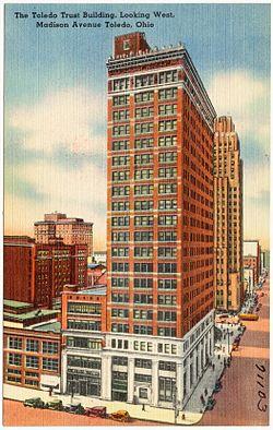 Riverfront Apartments The Toledo Trust Building Looking West Madison Avenue Ohio 71103