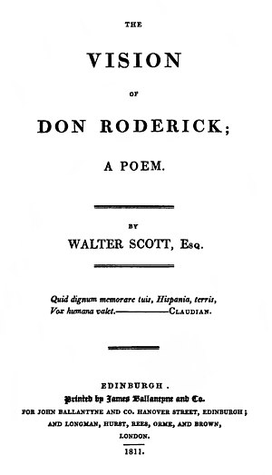 The Vision of Don Roderick - First edition title page