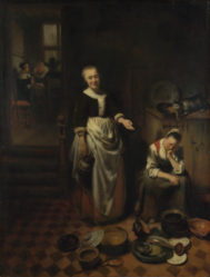 Nicolaes Maes: The Idle Servant