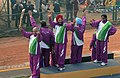 The renowned sportspersons carrying the replica of queenbatton of Commonwealth Games 2010 Delhi passes through the Raj path during the 61st Republic Day Parade-2010, in New Delhi on January 26, 2010.jpg