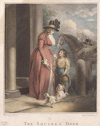 Benjamin Duterrau - The squire's door (1790)