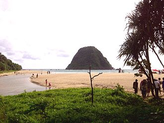 Banyuwangi Regency - Image: The view of Pulo Merah Islet in Banyuwangi, Indonesia