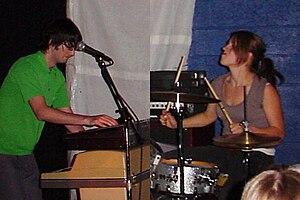 The Aquarium (band) - The Aquarium (Laura Harris, right, Jason Hutto, left)